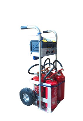 Handtruck for Extinguishers Grisù