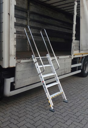 Truck access ladder