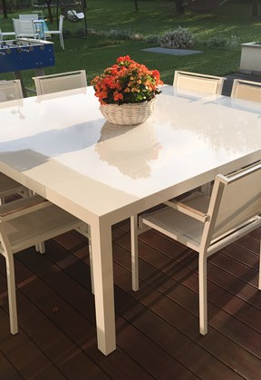 Mobili da giardino in alluminio svelt - Tavolo giardino delle parole chicco ...